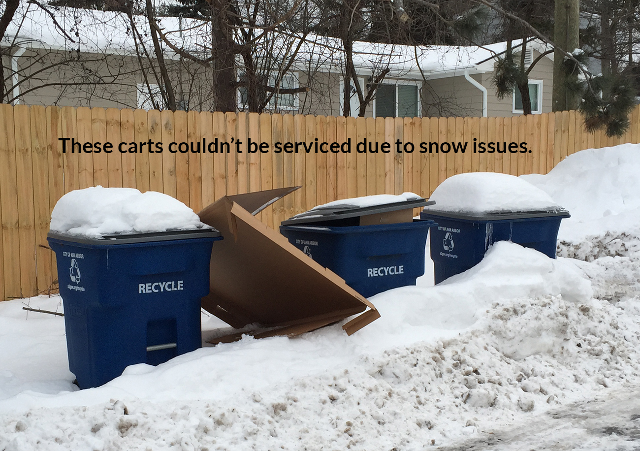 Winter Curbside Recycling Readiness & Holiday Service Delays 2019