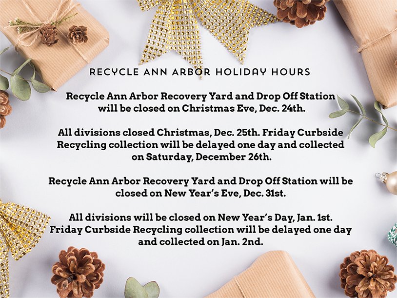 Recycle Ann Arbor Holiday Hours