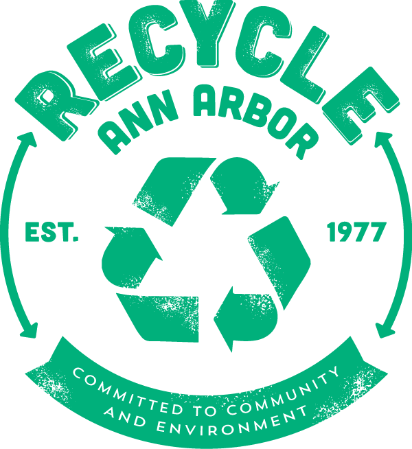 Recycle Ann Arbor Logo, established 1977, Committed to Community and Environment